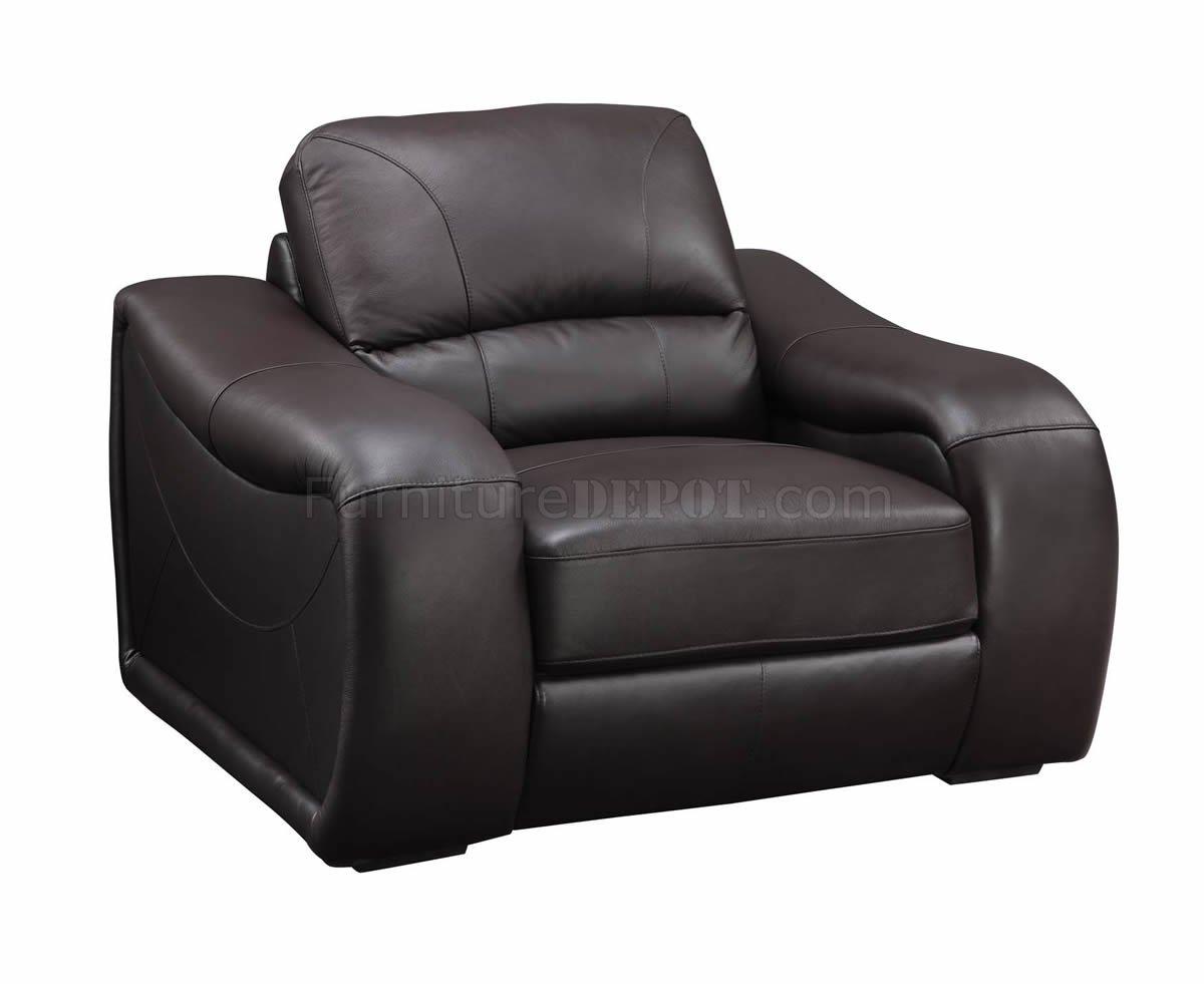 Brown Leather Modern Sofa & Loveseat Set w Options