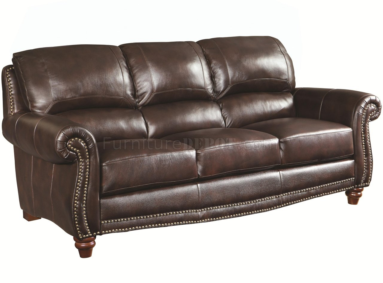 Lockhart sofa loveseat 504691 in burgundy leather by coaster Burgundy leather loveseat