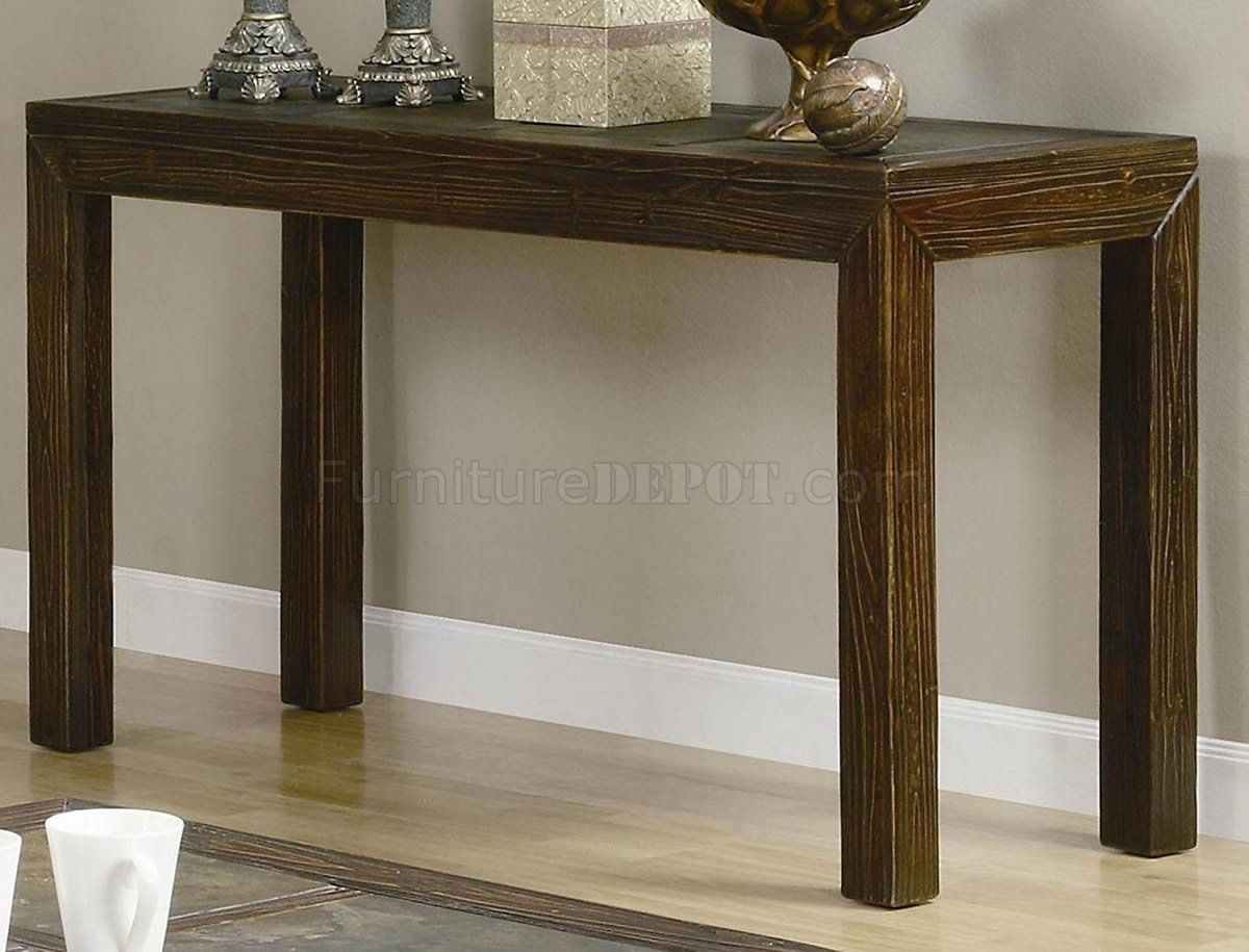 Distressed Brown Finish Modern Coffee Table W Options