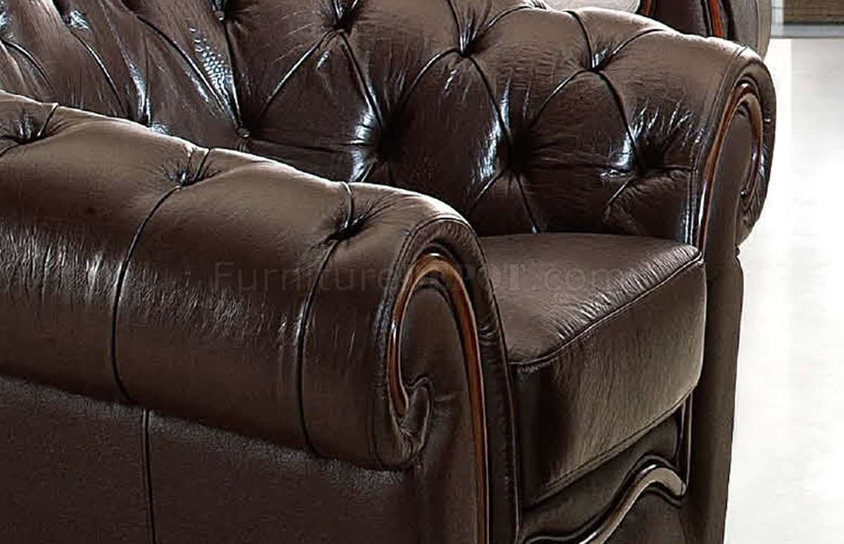 Formal Living Room Couches genuine leather formal living room sofa w/tufted seats