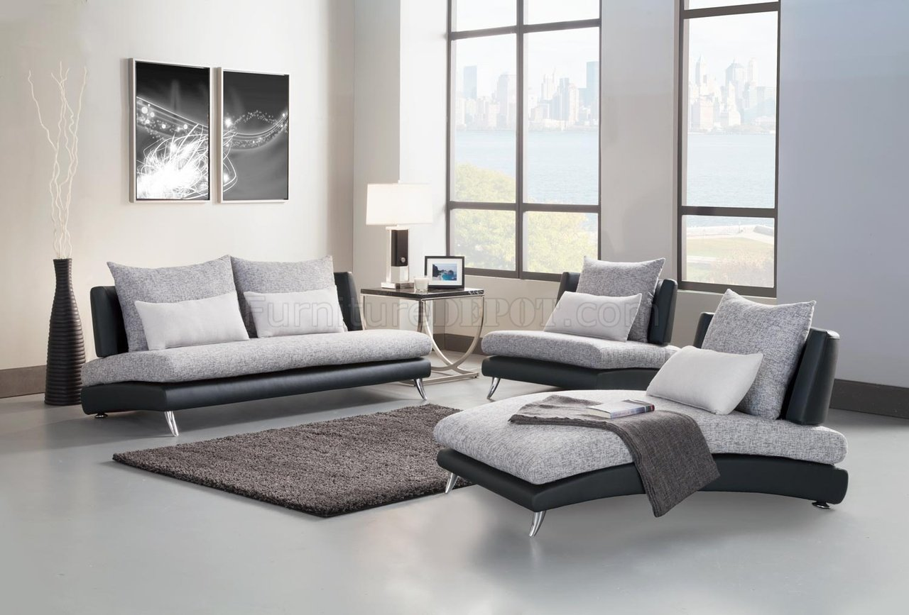 9607 Renton Sofa in Grey & Black by Homelegance w/Options