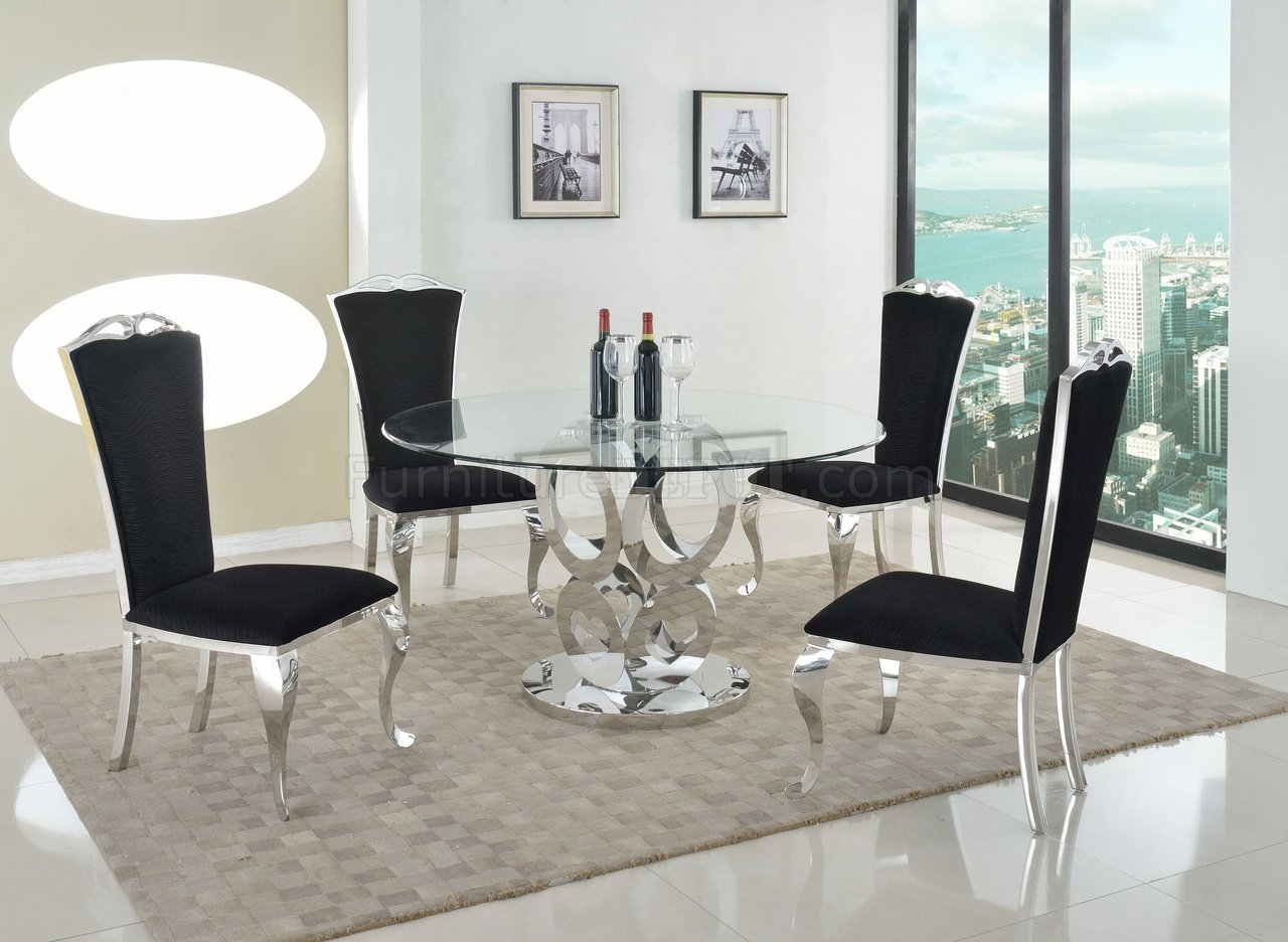 Raegan Dining Table 5pc Set By Chintaly W Jamie Chairs