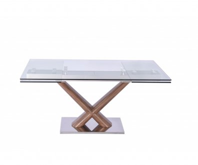 Celeste Expendable Dining Table W Glass Top By Whiteline