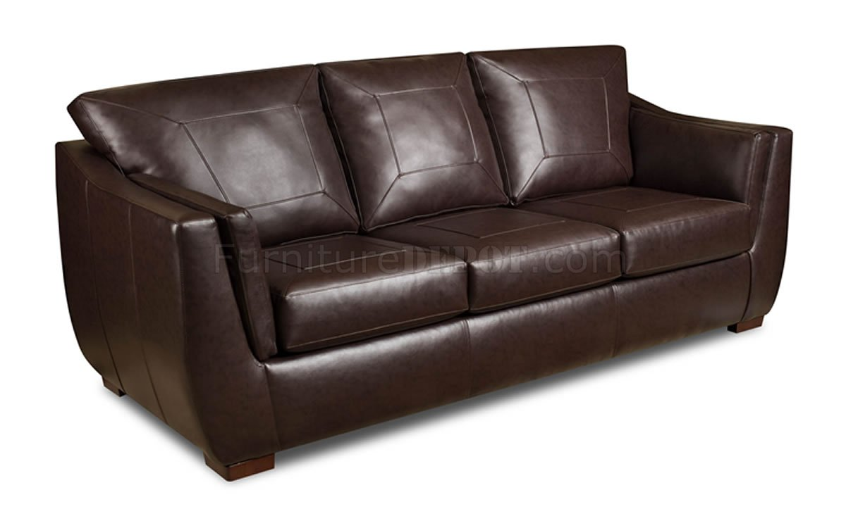 Brown Cordovan Bonded Leather Sofa U0026 Loveseat Set W/Options