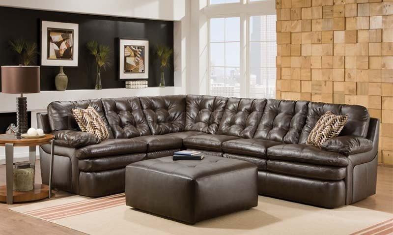 Capri dark brown modern sectional sofa w optional ottoman for Taylor sectional sofa and ottoman dark brown