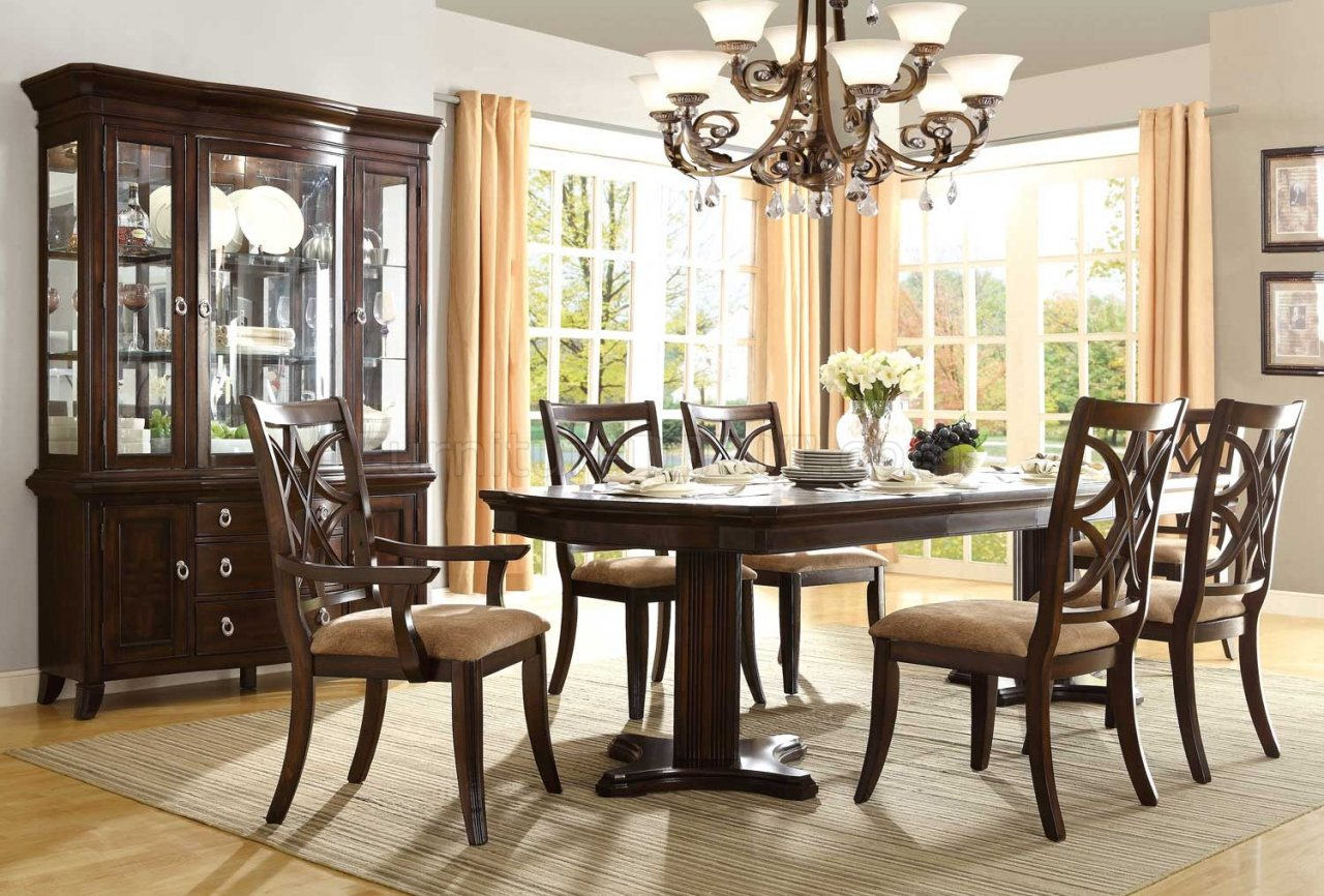 keegan 2546 108 dining table by homelegance woptional items - Dining Room Items