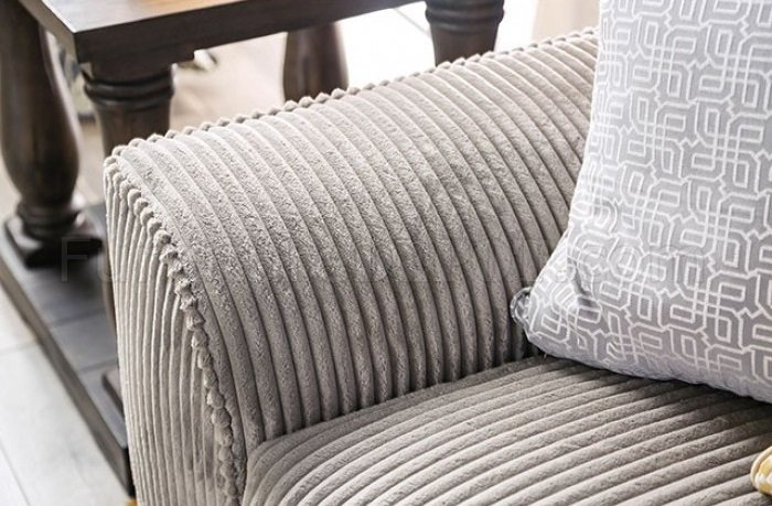 Marjorie Sofa Sm6217 In Gray Wide Wale Corduroy W Options