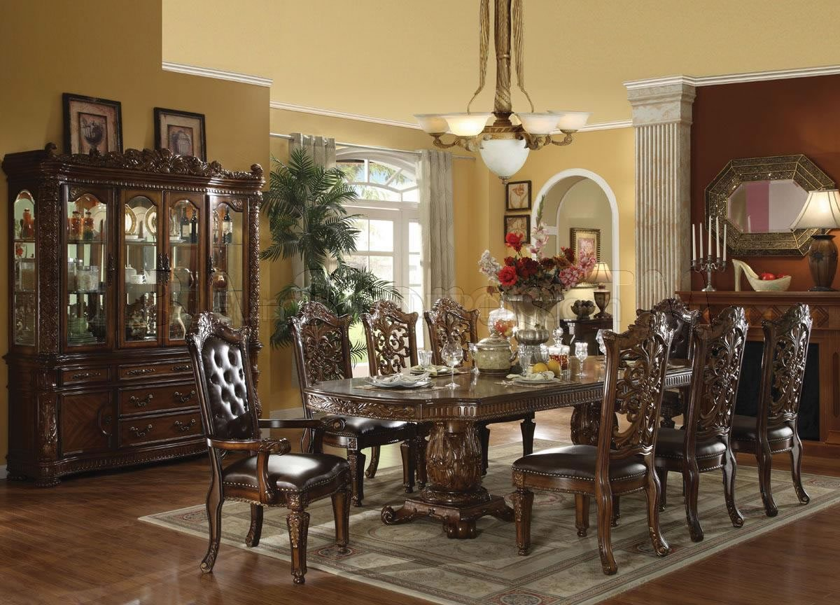Formal Dining Sets 60000 vendome dining table in dark cherryacme