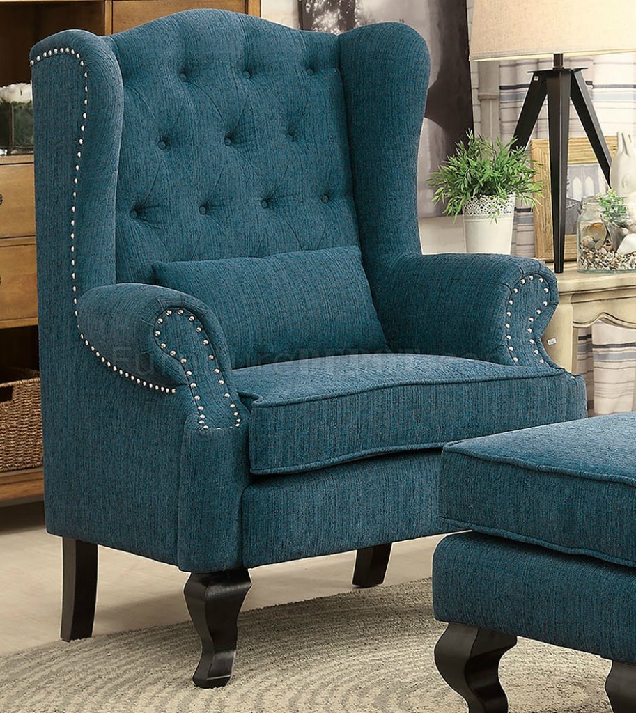 Willow Accent Chair Cm Ac6271tl In Teal W Optional Ottoman