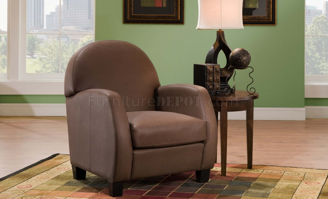 chair on Or Black Bonded Leather Modern Elegant Accent Chair At title=