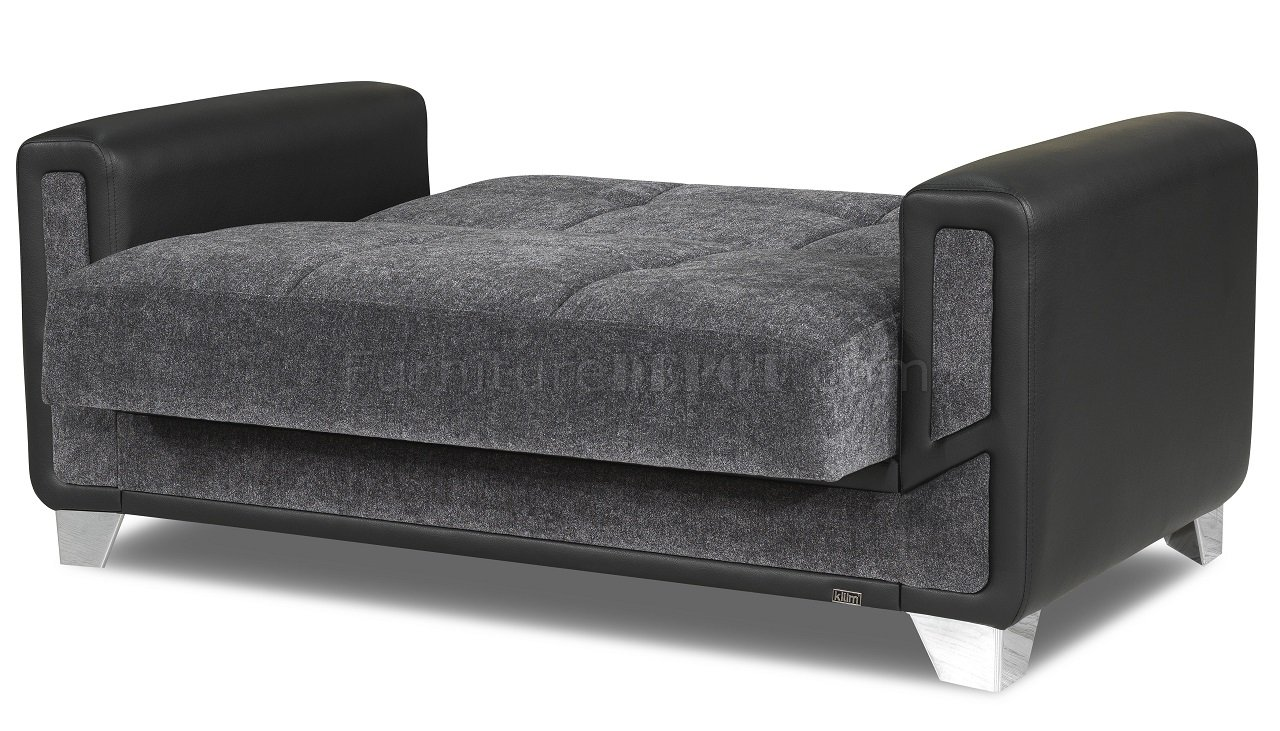 mondo sofa bed convertible in gray fabric by casamode w. Black Bedroom Furniture Sets. Home Design Ideas