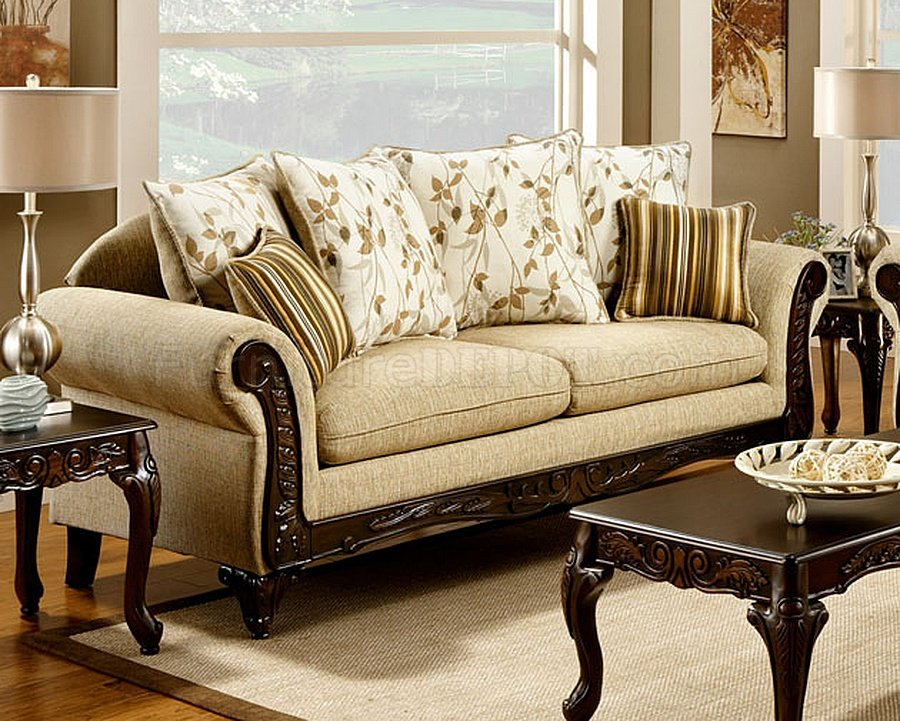 doncaster sofa sm7435 in desert sand fabric w options