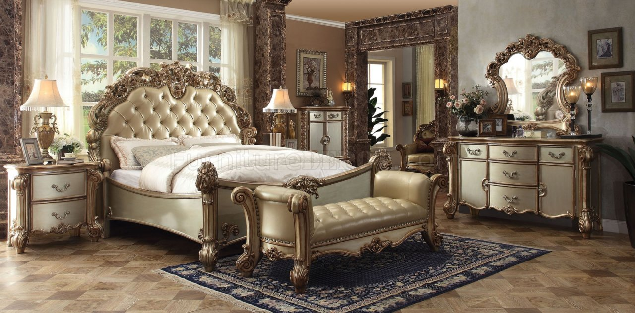 Vendome Bedroom Gold By Acme