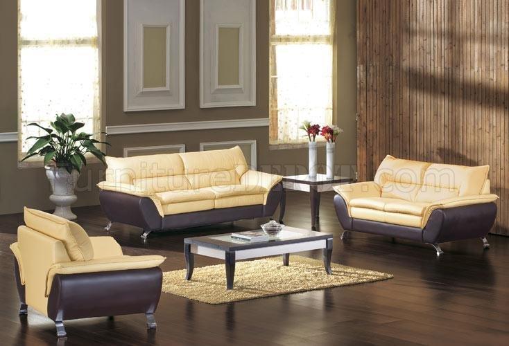 2819 Italian Leather Modern Living Room Set