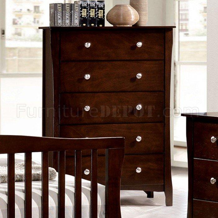 riggins cm7070 5pc bedroom set in brown cherry w options