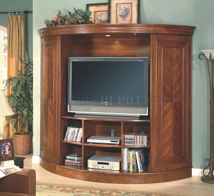 Cherry Entertainment Wall Unit W Sliding Doors Amp Lighted Piers
