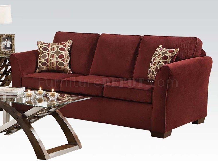 50580 Jayda Sofa In Wine Fabric By Acme W Options