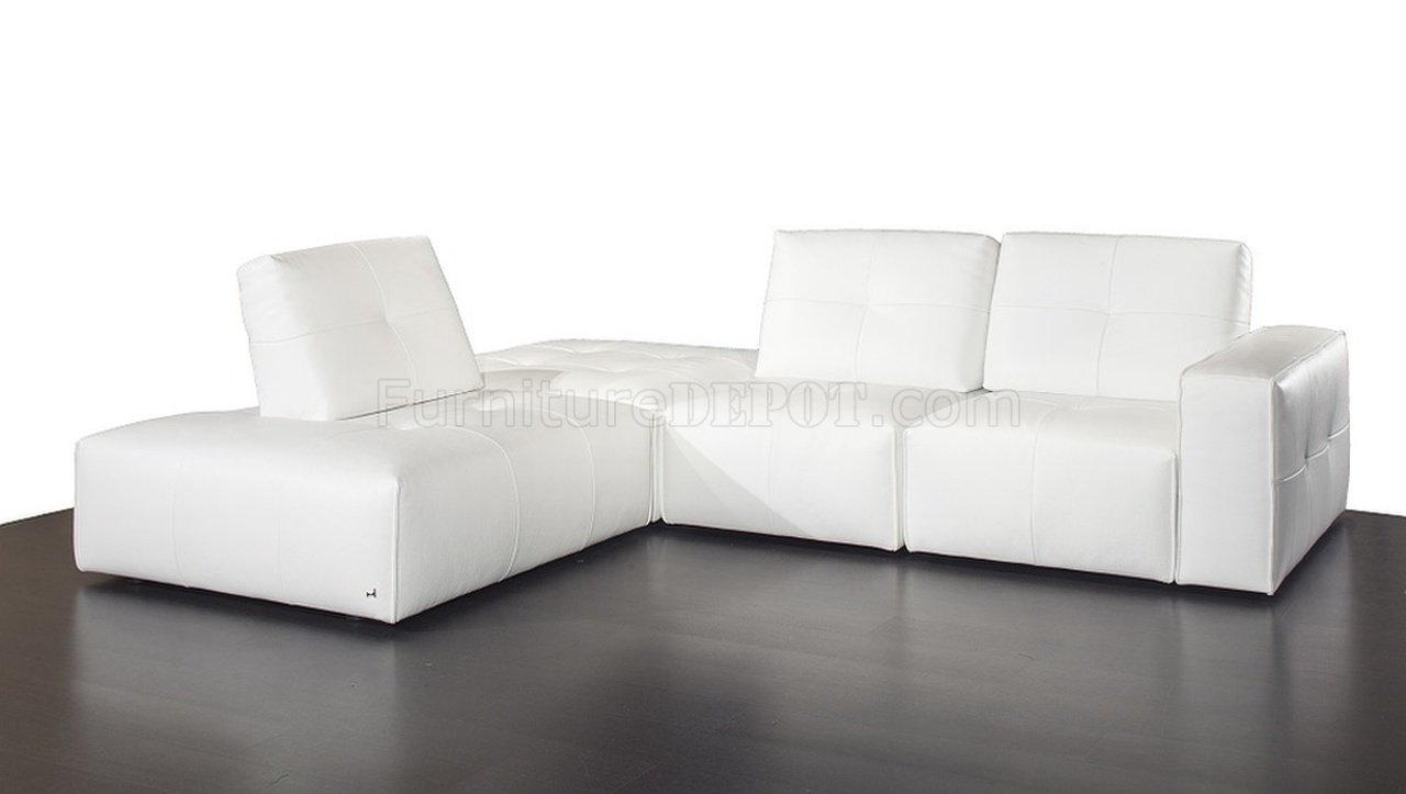 Ibiza Modular Sectional Sofa in White Premium Leather by J&M
