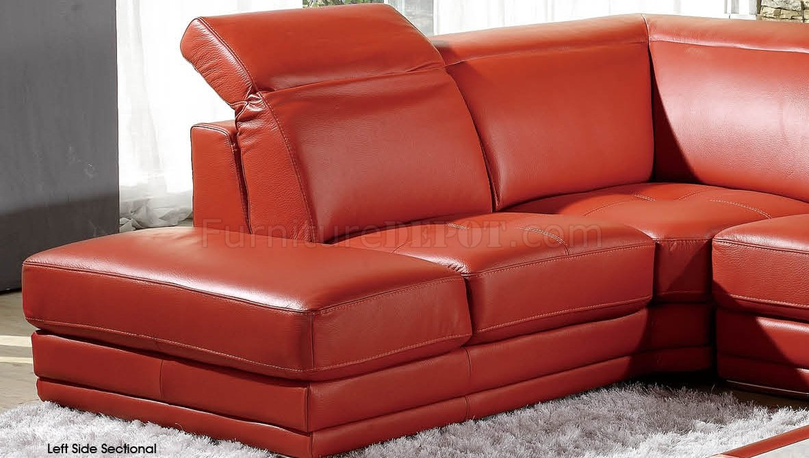 modern full leather sectional sofa 605 orange. Black Bedroom Furniture Sets. Home Design Ideas