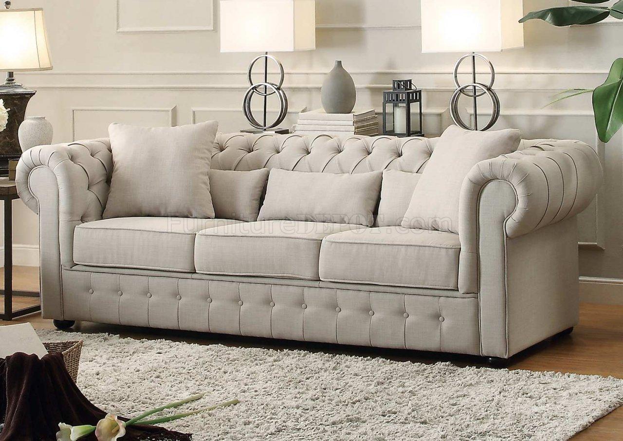 Savonburg Sofa 8427 In Neutral Fabric By Homelegance W/Options