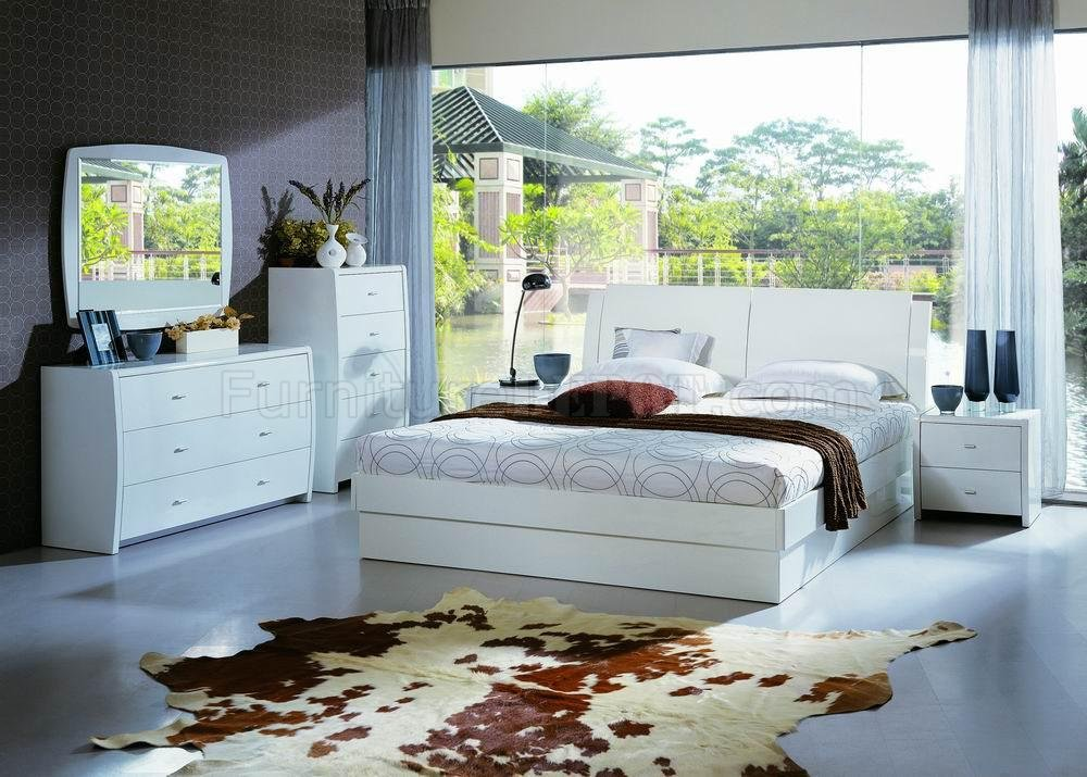 Bedroom Sets With Storage Beds contemporary bedroom set palermo white