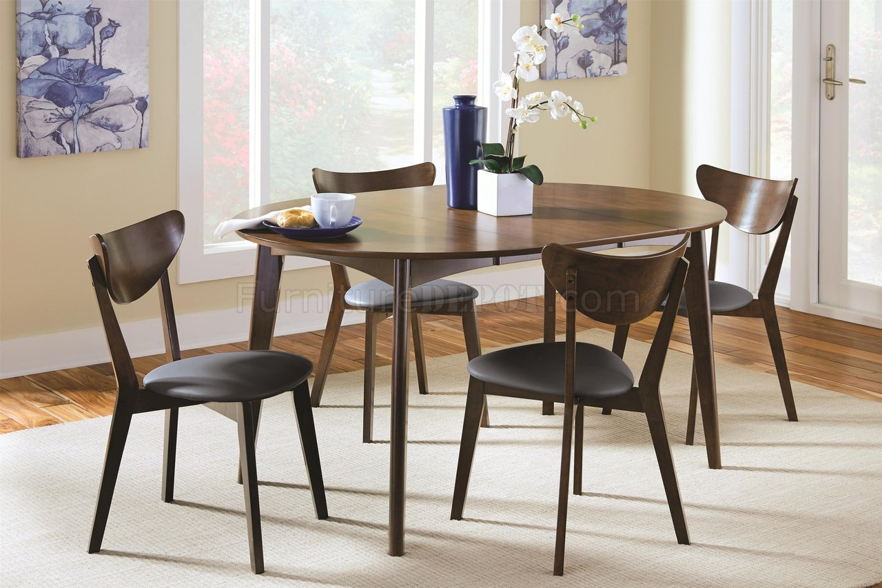 Malone Dining Set 5pc 105361 In Dark Walnut Coaster W Options