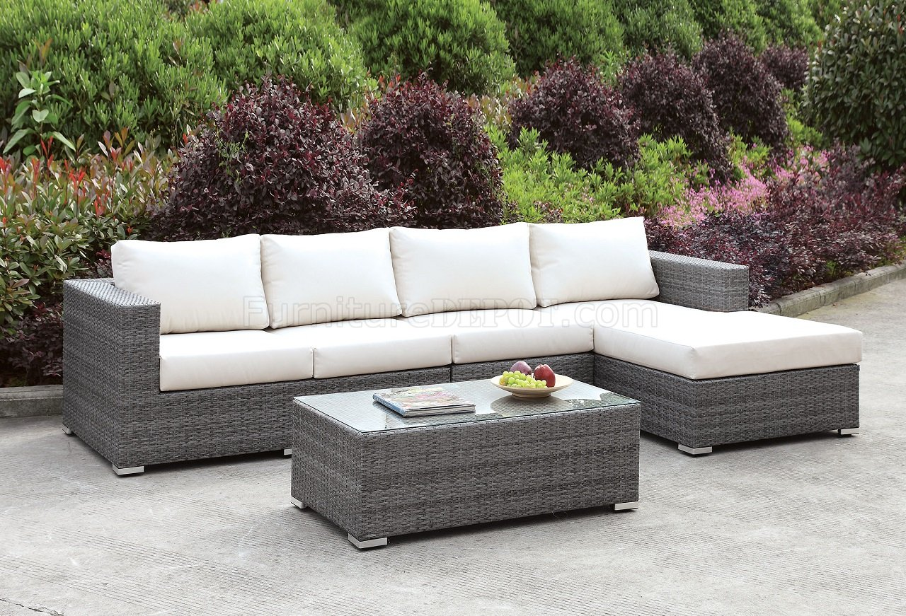 Somani Cm Os2128 14 Outdoor Sectional Sofa Coffee Table Set