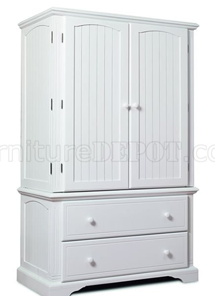 Satin White Finish Twodoor Armoire With Two Extra Drawers P 195 on office depot drawers
