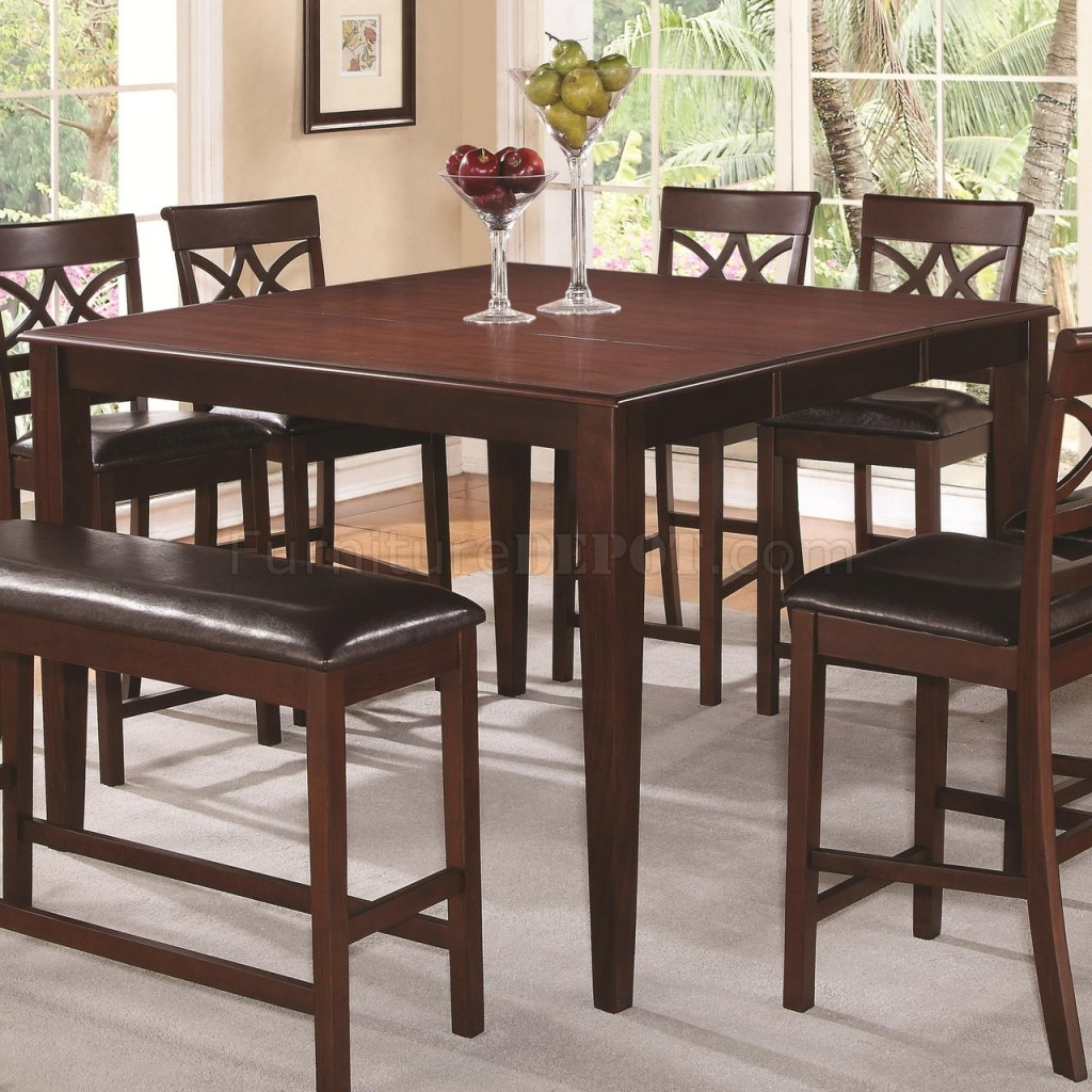 100648 Dunham 5Pc Counter Height Dining Set By Coaster W/Options