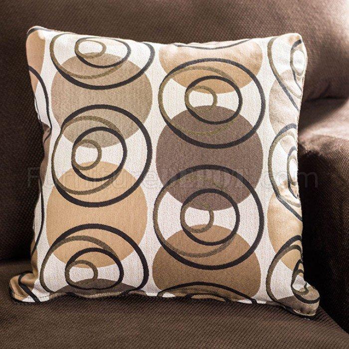 wessington sectional sofa sm6111 ushaped in chocolate fabric