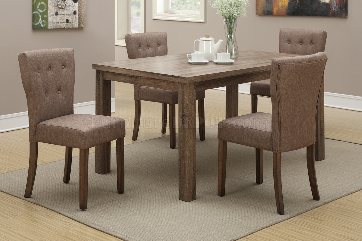 f dining set 5pc by boss wslate linen chairs p