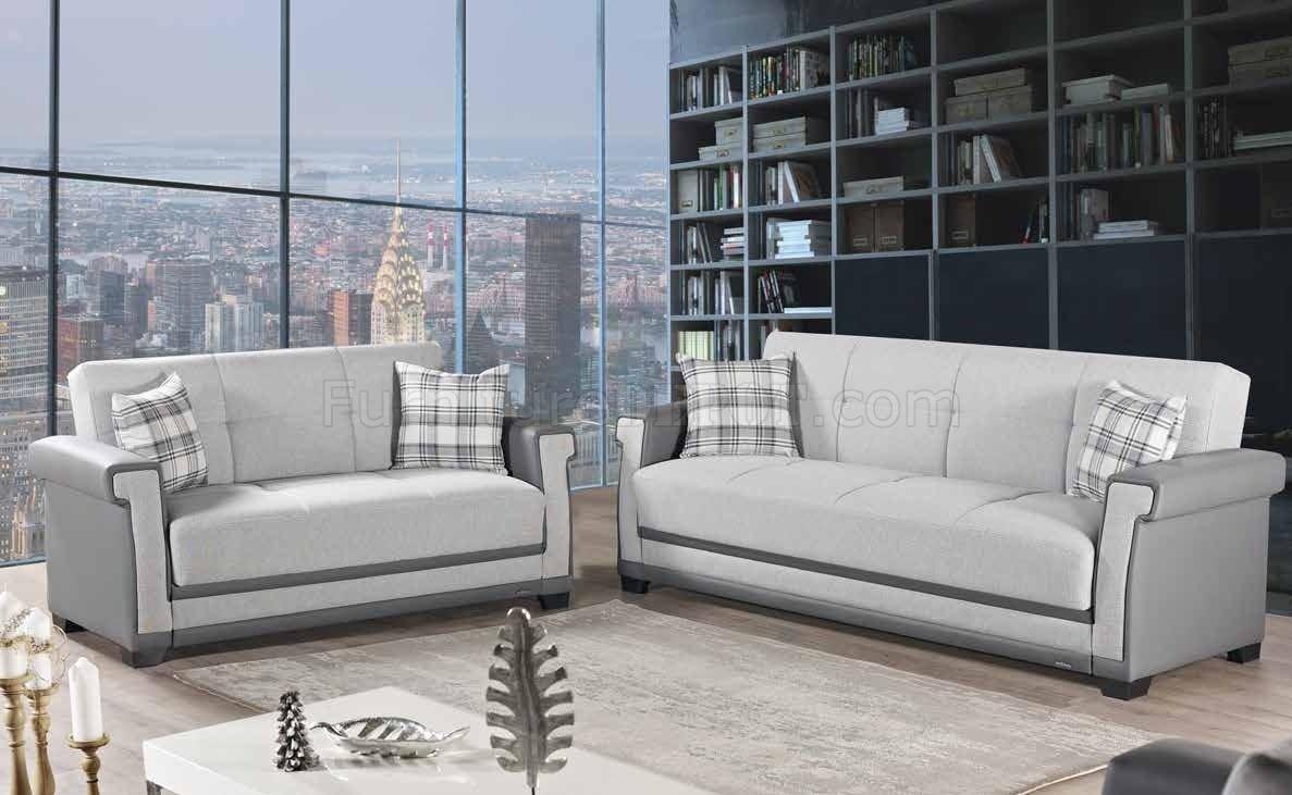 Picture of: Cornella Sofa Bed Convertible In Light Gray Fabric By Mobista