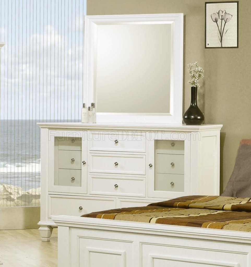 Sandy Beach Bedroom Set White Part - 35: Sandy Beach Bedroom 5Pc Set 201301 In White W/Options