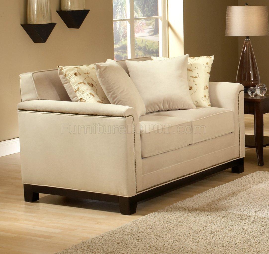 beige fabric contemporary living room sofa loveseat set chfs cu x719