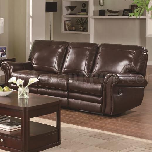 Burgundy Leather Reclining Sofa Glx U9303 Bonded Leather