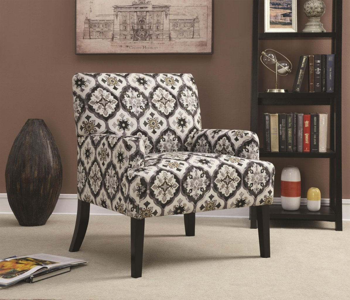 902621 Accent Chair Set Of 2 In Printed Fabric By Coaster