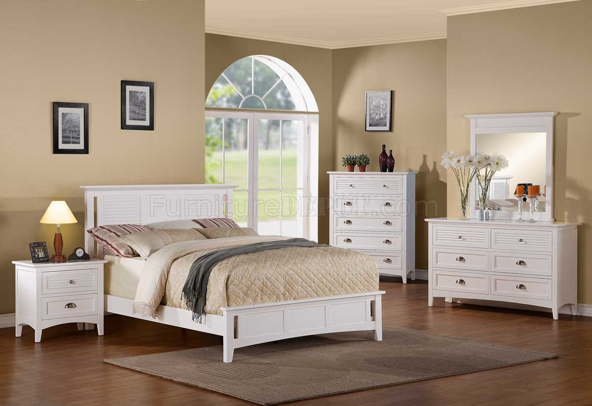 2138w robinson bedroom by homelegance in white w options for White bed set furniture