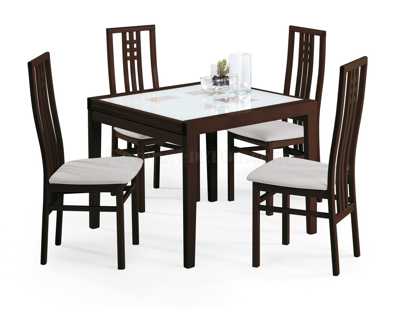 poker 90 dining table wenge by esf w folding frosted glass top efds
