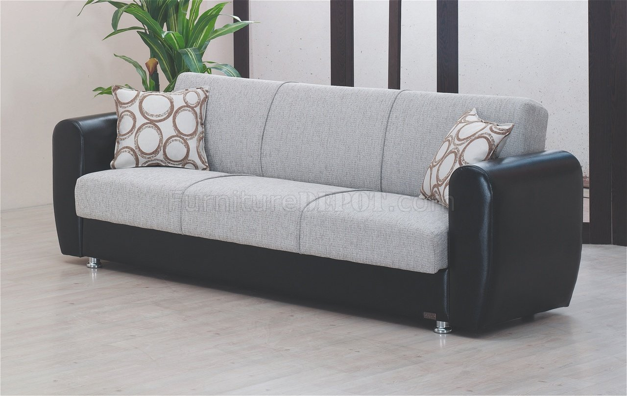Houston Sofa Bed In Grey Fabric By Empire W Options