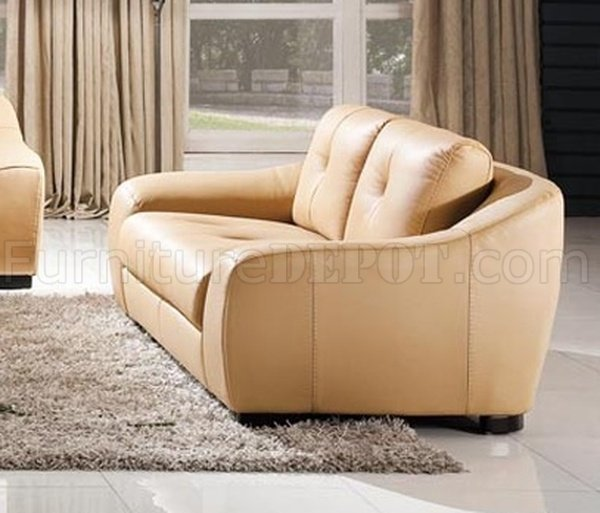 8266 Sofa In Beige Leather By Esf W Optional Loveseat Chair