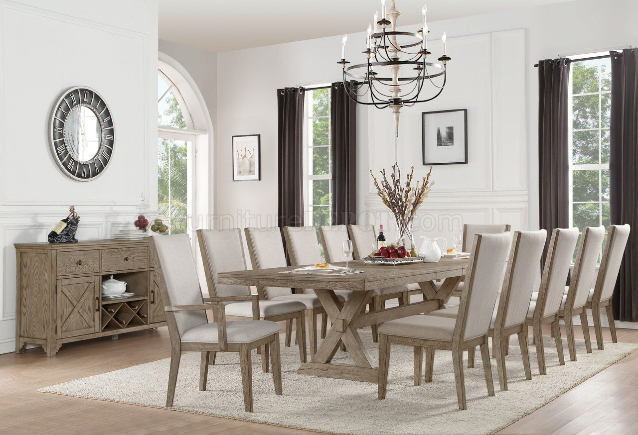 Rocky Dining Table 72860 In Gray Oak By Acme W/Options