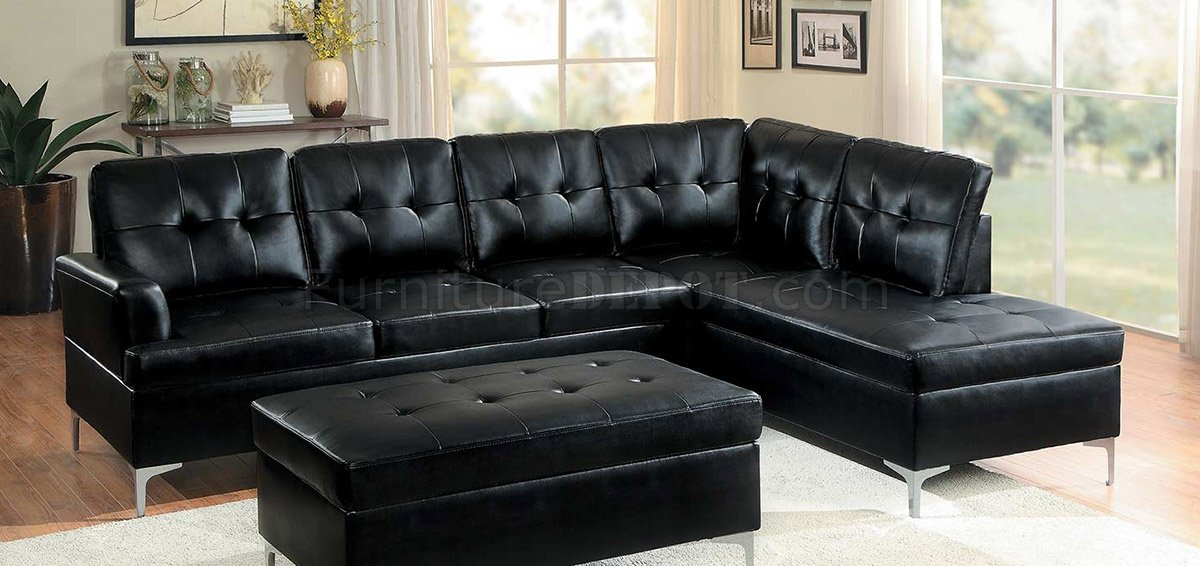 Magnificent Barrington Sectional Sofa 8378 In Black Pu By Homelegance Pabps2019 Chair Design Images Pabps2019Com