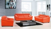 8021 Sofa in Orange Full Leather by ESF w/Optional Items