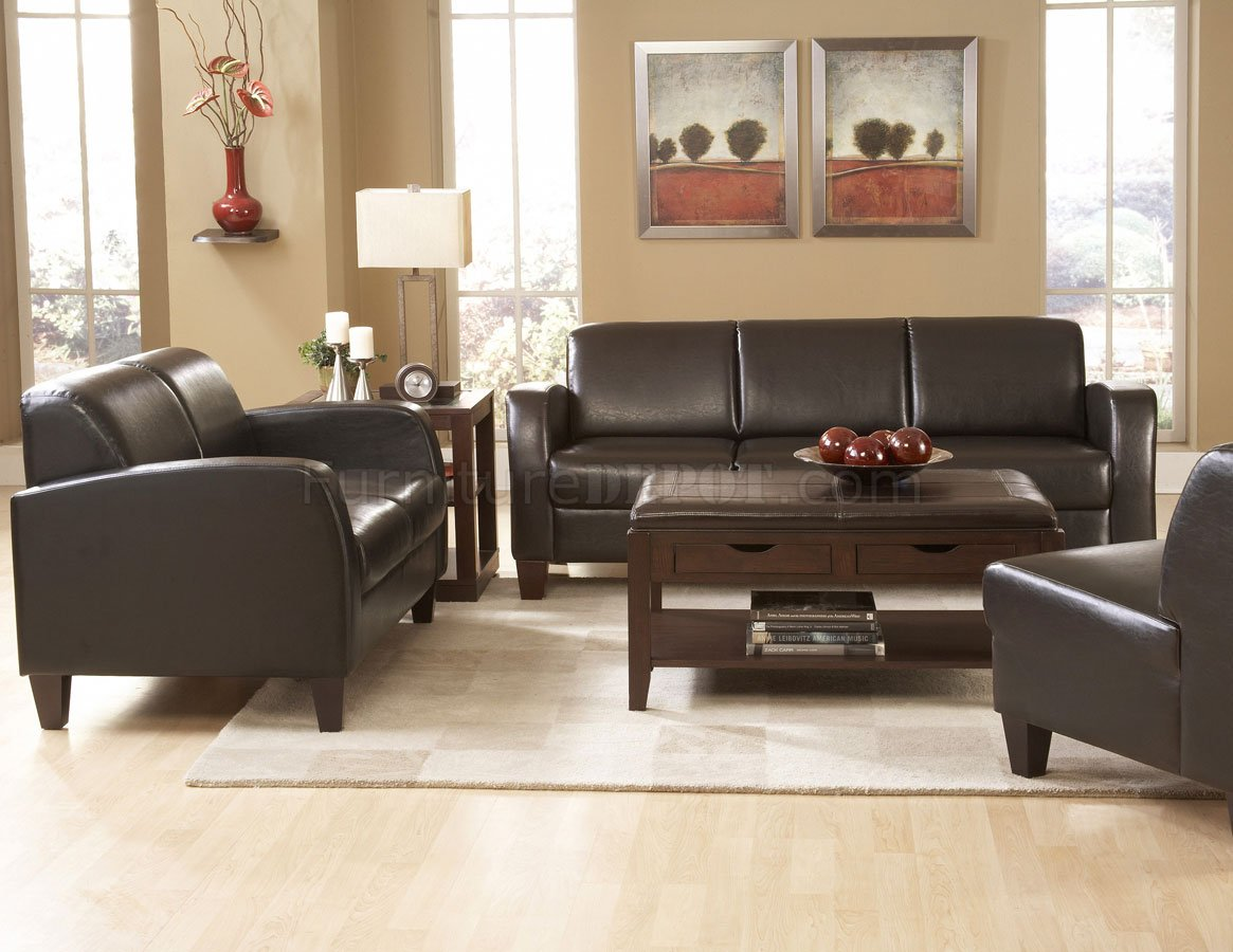 Sofa Ottoman Chair Living Room Set Top Grain Australian ...