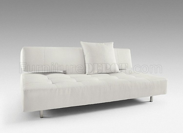 Delicieux White Leatherette Modern Sofa Bed Convertible By Innovation