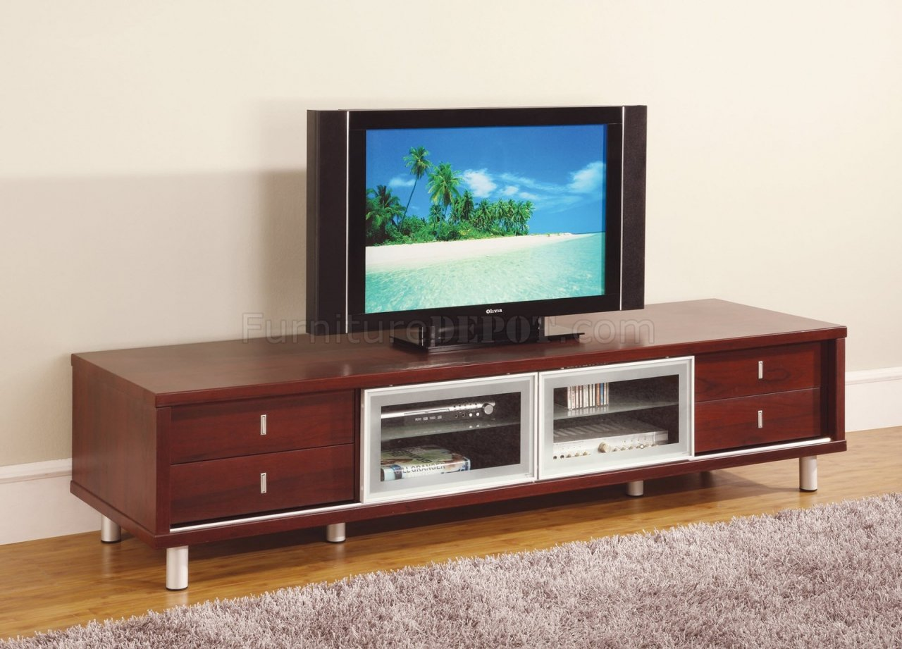 M722tv Mahogany Finish Tv Stand By Global