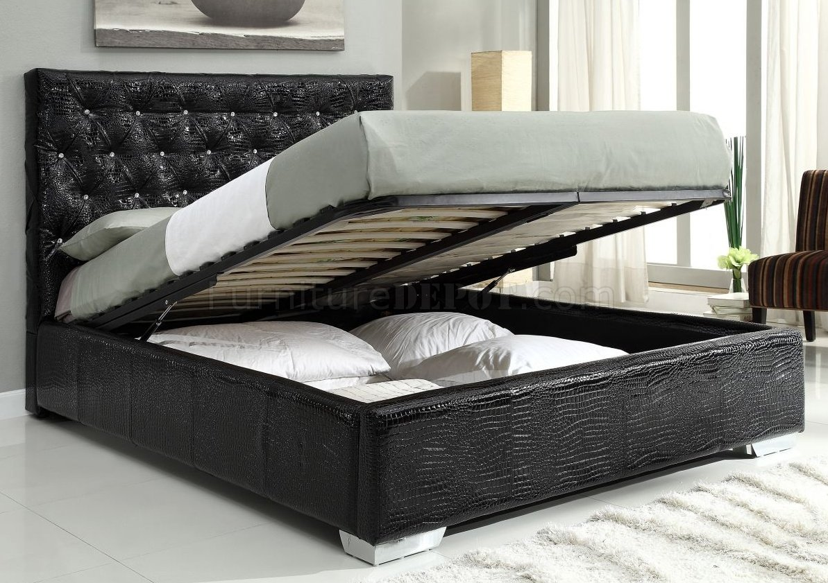 Michelle Black bedroom by At Home USA with storage