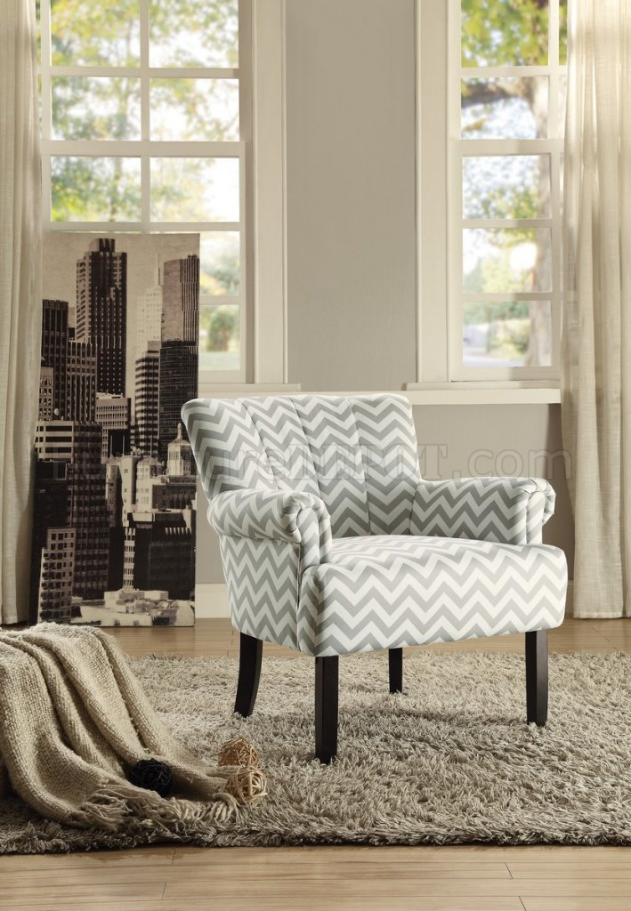 Langdale Accent Chair 1212f4s In Fabric By Homelegance