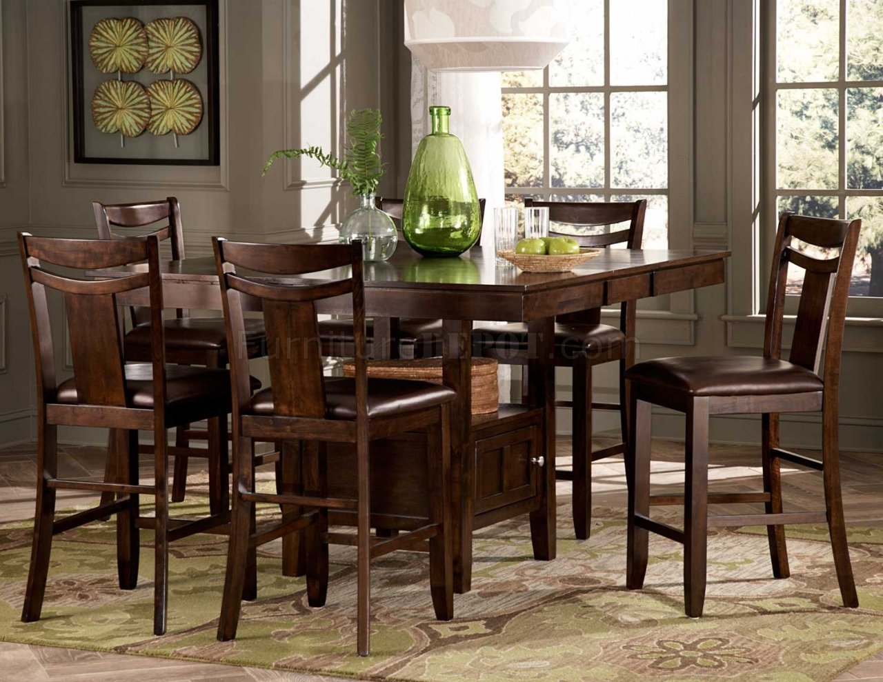 Broome 2524 36 counter height dining 5pc set by homelegance for Counter height dining set