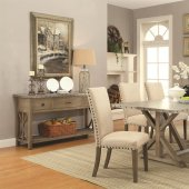 105571 Webber Dining Table in Driftwood by Coaster w/Options